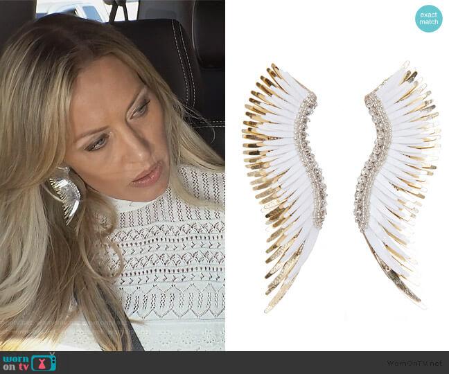 Madeline Beaded Statement Earrings Mignonne Gavigan worn by Braunwyn Windham-Burke  on The Real Housewives of Orange County