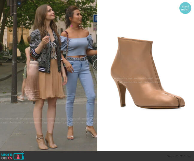 Tabi Ankle Boots by Maison Margiela worn by Emily Cooper (Lily Collins) on Emily in Paris