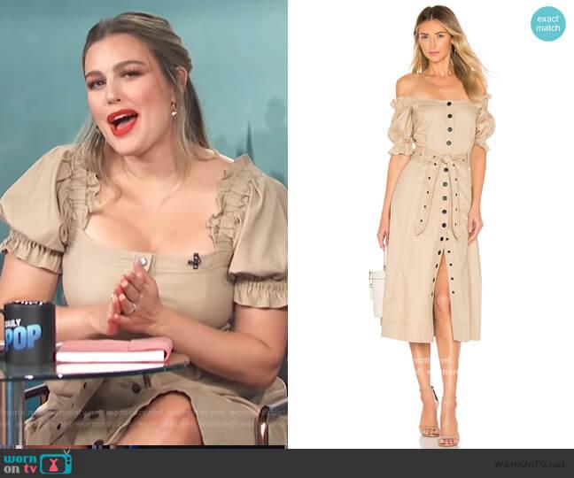 Charlize Canvas Dress by Marissa Webb worn by Carissa Loethen Culiner  on E! News