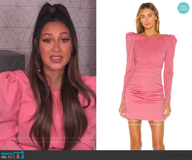 Bekah Mini Dress by NBD worn by Adrienne Houghton  on The Real