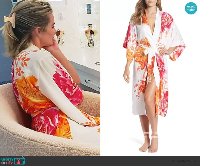 Bali Floral Print Robe by Natori worn by Khloe Kardashian  on Keeping Up with the Kardashians