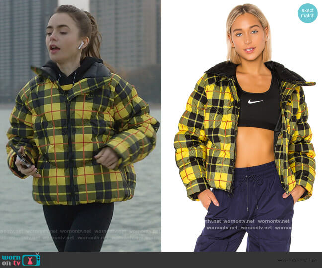 Statement Jacket by Nike worn by Emily Cooper (Lily Collins) on Emily in Paris