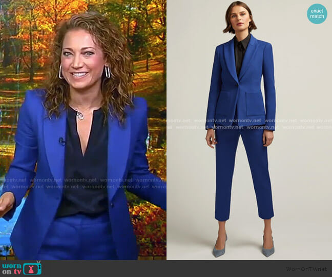 Patch Pocket Blazer and Tailored Trouser by Argent worn by Ginger Zee  on Good Morning America