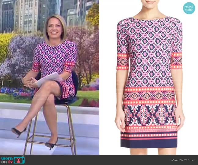 Print Jersey Shift Dress by Eliza J worn by Dylan Dreyer  on Today