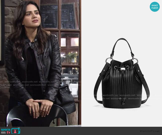 Quilted Mini Bag by Zara worn by Lola Rosales (Sasha Calle) on The Young & the Restless