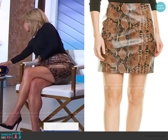 Rida Skirt by Ronny Kobo worn by Amy Robach  on Good Morning America