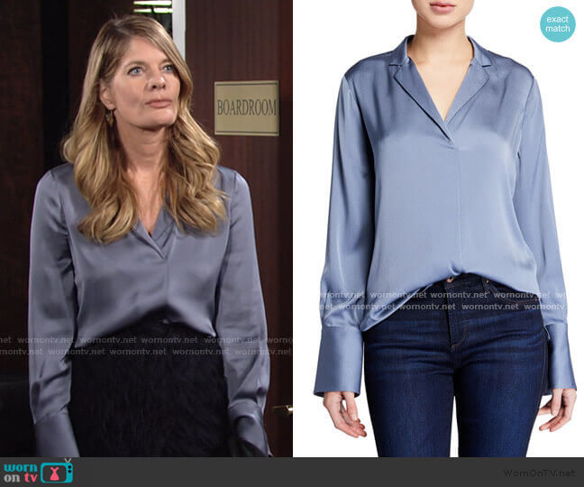 Rebekah Blouse by Kobi Halperin worn by Phyllis Summers (Michelle Stafford) on The Young & the Restless