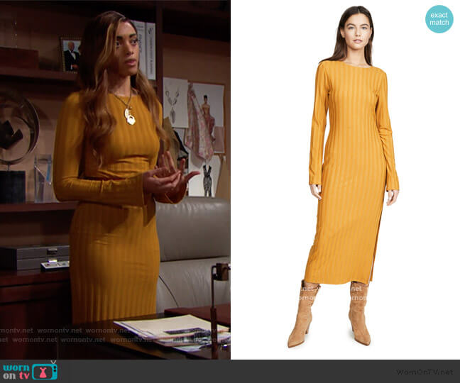 Dillon Dress by Reformation worn by Zoe (Kiara Barnes) on The Bold & the Beautiful