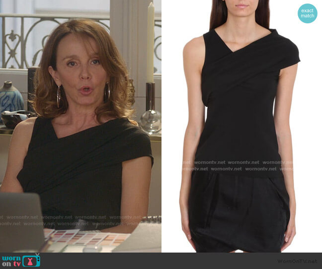 Banana Tank Top by Rick Owens worn by Sylvie (Philippine Leroy-Beaulieu) on Emily in Paris