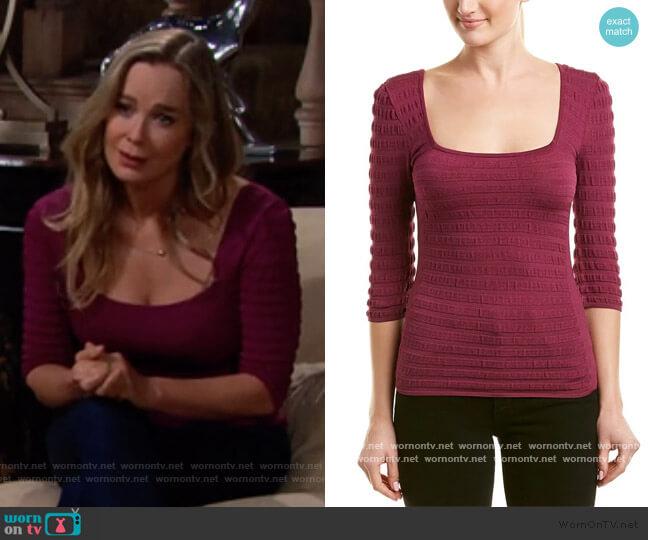 Carmel Top by Ronny Kobo worn by Donna Logan (Jennifer Gareis) on The Bold & the Beautiful
