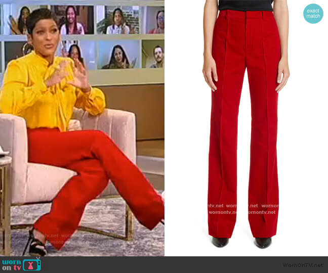 Wide Leg Corduroy Pants by Saint Laurent worn by Tamron Hall  on Tamron Hall Show