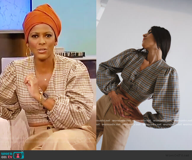 Tala Blouse by Selva Negra worn by Tamron Hall  on Tamron Hall Show
