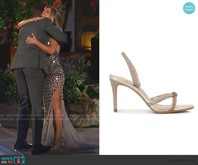 Giovanna Crystal-Embellished Sandals by Sophia Webster worn by Clare Crawley  on The Bachelorette