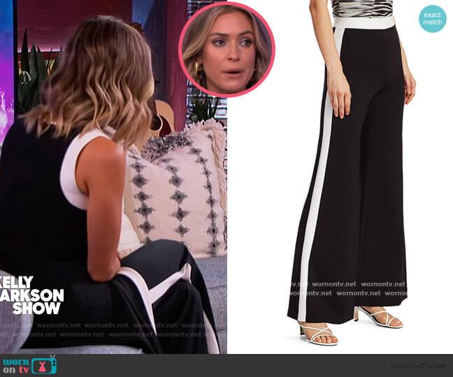Milo Ponte Pants by Staud worn by Kristin Cavallari on The Kelly Clarkson Show