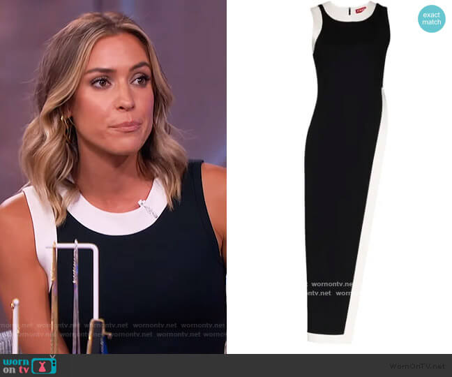 Pointer asymmetric top by Staud worn by Kristin Cavallari on The Kelly Clarkson Show