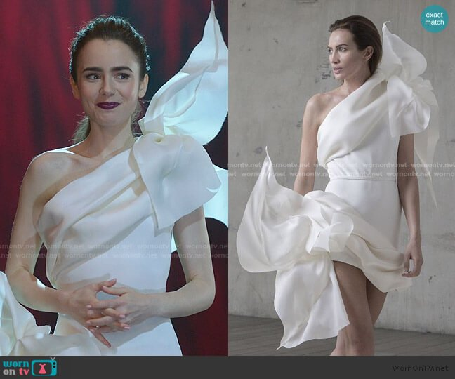 Spring 2017 Collection by Stephane Rolland worn by Emily Cooper (Lily Collins) on Emily in Paris