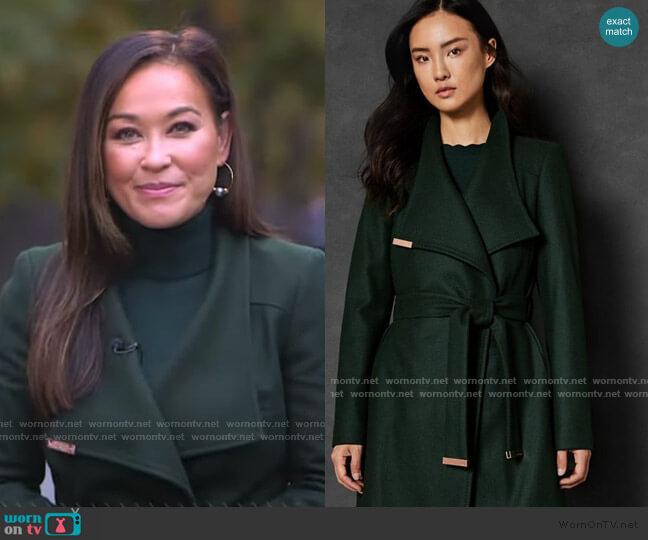 Sandra Coat by Ted baker worn by Eva Pilgrim  on Good Morning America
