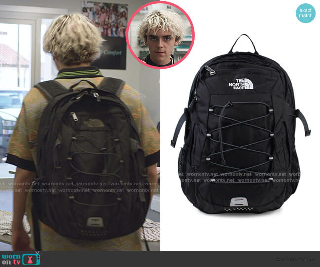 Borealis Backpack in black by The North Face worn by Fraser Wilson (Jack Dylan Grazer) on We Are Who We Are