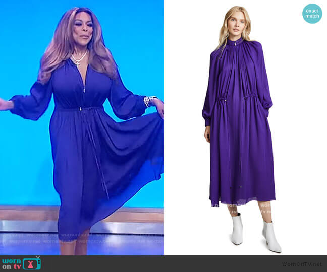 Drawstring Maxi Dress by Tibi worn by Wendy Williams  on The Wendy Williams Show