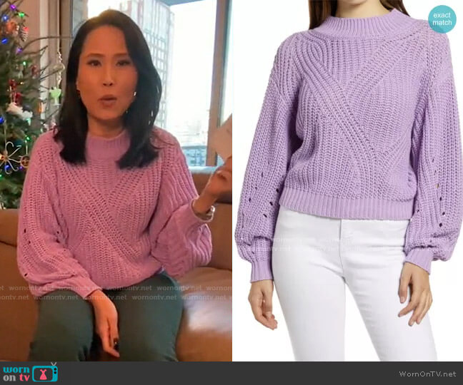 Traveling Stitch Sweater by BP worn by Vicky Nguyen  on Today