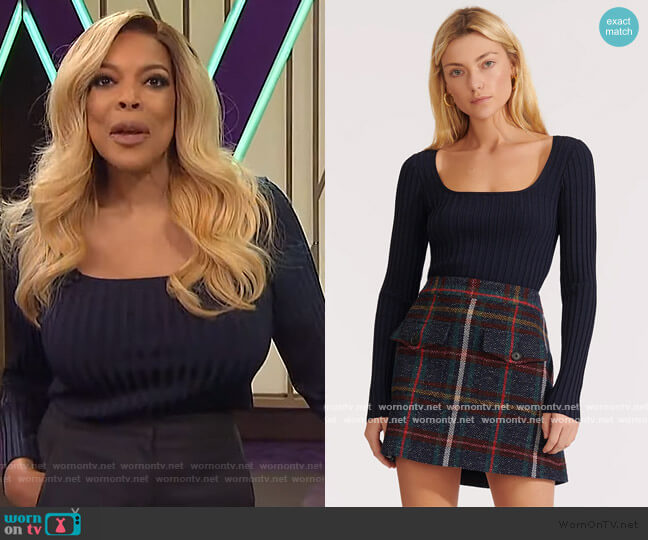 Clara Pullover by Veronica Beard worn by Wendy Williams  on The Wendy Williams Show