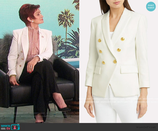 Empire Double-Breasted Blazer by Veronica Beard worn by Sharon Osbourne  on The Talk