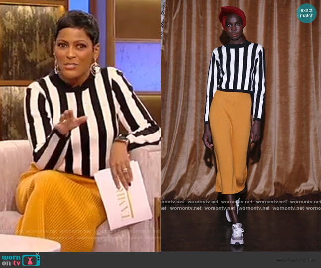 2020 FW Collection by Victor Glemaud worn by Tamron Hall  on Tamron Hall Show