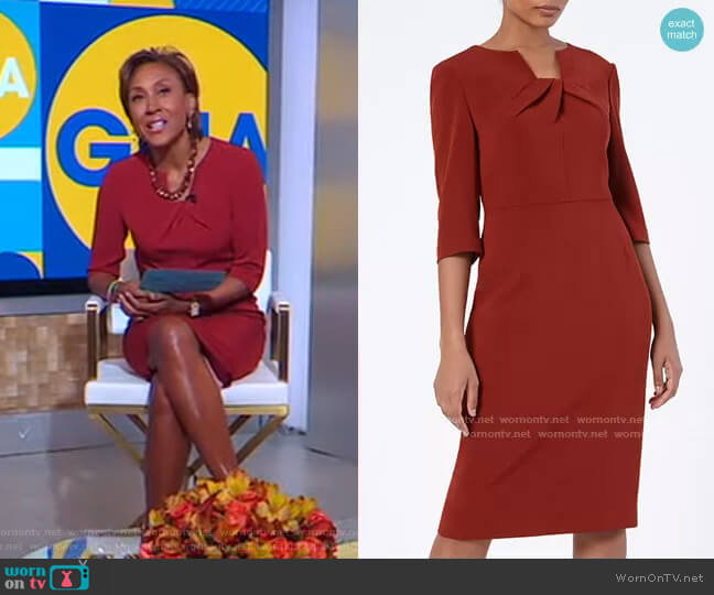 Waverley Dress by The Fold worn by Robin Roberts  on Good Morning America
