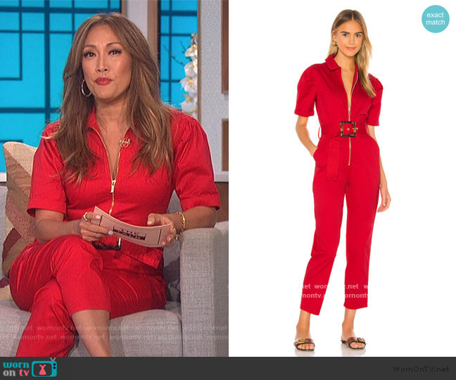Belted Jumpsuit by We Wore What worn by Carrie Inaba  on The Talk