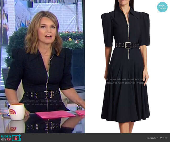 Zip-Front Belted Midi Dress by Michael Kors Collection worn by Savannah Guthrie  on Today
