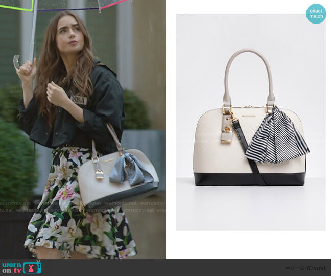 Handful Dome Bag by Aldo  worn by Emily Cooper (Lily Collins) on Emily in Paris