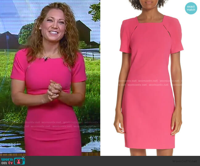 Kristiana Cutout Detail Sheath Dress by Alice + Olivia worn by Ginger Zee  on Good Morning America
