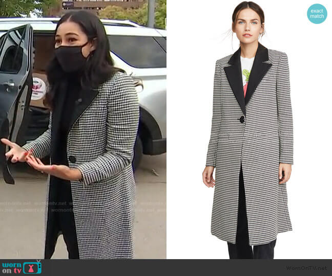 Sienna Long Blazer Coat by Alice + Olivia worn by Morgan Radford on Today