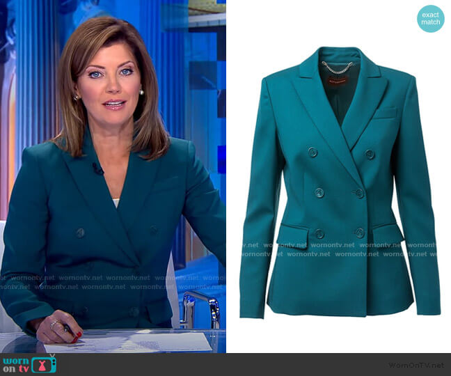 Indiana Jacket by Altuzarra worn by Norah O'Donnell  on CBS Evening News