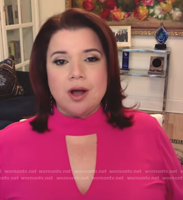 Ana's pink halter neck top on The View