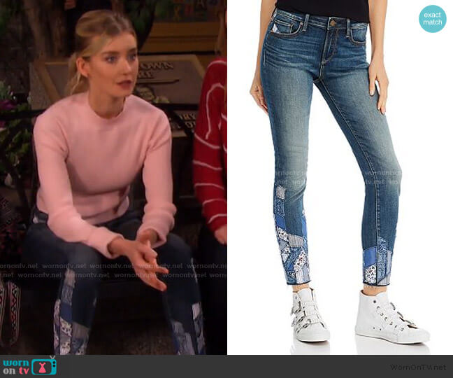 Patchwork Skinny Jeans by Aqua worn by Claire Brady (Isabel Durant ) on Days of our Lives