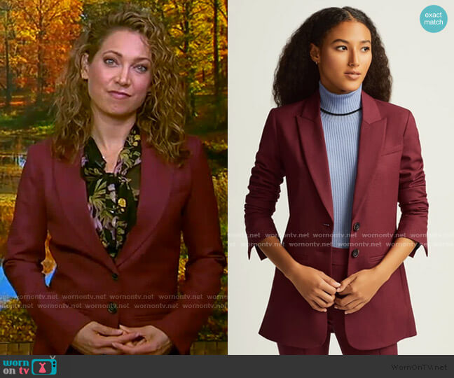 Classic Blazer by Argent worn by Ginger Zee  on Good Morning America