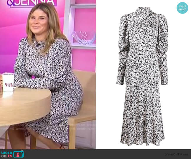 Emilie Floral Midi Dress by Ba&Sh worn by Jenna Bush Hager  on Today