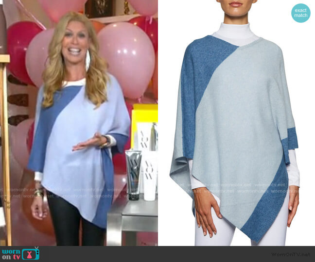 Striped Cashmere Poncho by Beryll worn by Jill Martin  on Today