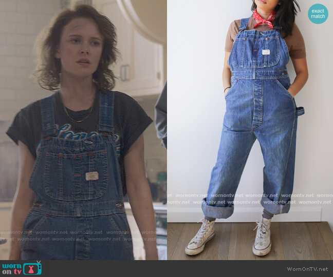 Big Mac Vintage Denim Overalls worn by Jamie (Amelia Eve) on The Haunting of Bly Manor