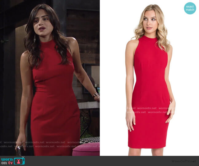 Micah Sheath Dress by Black Halo worn by Lola Rosales (Sasha Calle) on The Young & the Restless