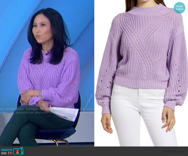 Traveling Stitch Sweater by BP worn by Vicky Nguyen on Today Show