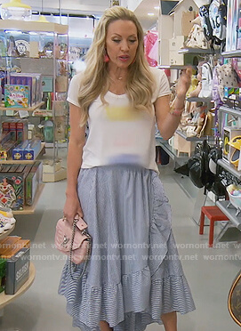 Braunwyn's striped ruffle skirt on The Real Housewives of Orange County