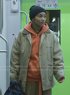 Caitlin's orange hoodie on We Are Who We Are