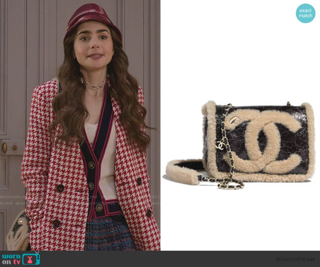 Flap Bag by Chanel worn by Emily Cooper (Lily Collins) on Emily in Paris