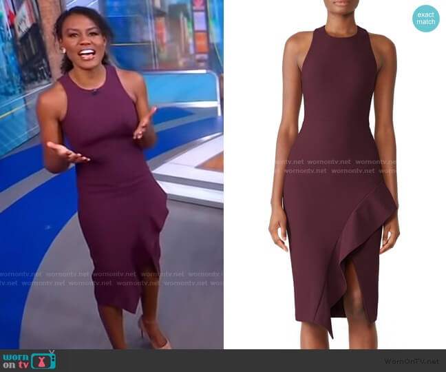 Piper Dress by Cinq a Sept worn by Janai Norman  on Good Morning America