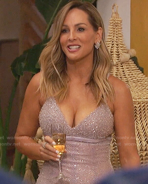 Clare's lavender beaded gown on The Bachelorette