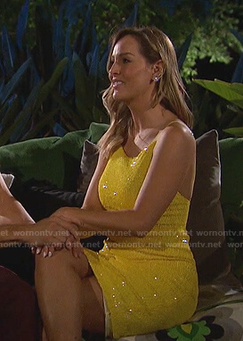 Clare's yellow sequin dress on The Bachelorette