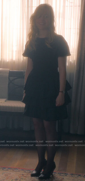 Dani's black tiered mini dress on The Haunting of Bly Manor