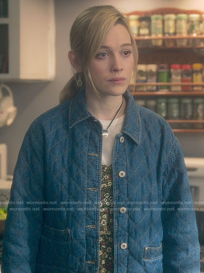 Dani's quilted denim jacket on The Haunting of Bly Manor